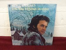 MERLE HAGGARD & THE STRANGERS If We Make It Through December LP SEALED Capitol