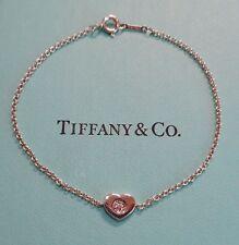 """Tiffany & Co """"Modern Heart"""" Bracelet , Sterling Silver with Diamond, c Receipt"""