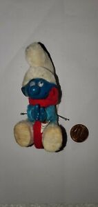 1980 SMURF HUGGER CLINGING CLIP ON VINTAGE RETRO TOY peyo vintage