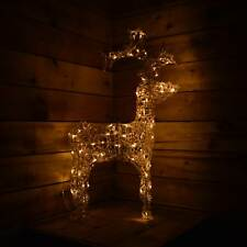 Buy outdoor reindeer christmas lights ebay 90cm 80 leds acrylic christmas reindeer decoration indoor outdoor warm white aloadofball Images