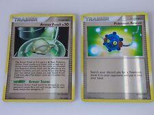 2x Pokemon Trainer Cards: Armor Fossil 119/127 & Pokemon Rescue 115/127 Uncommon