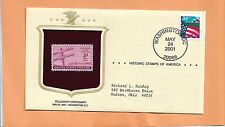 TELEGRAPH CENTENARY MAY 24,2001 WASHINGTON   HISTORIC STAMPS OF AMERICA COVER