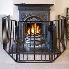 3 Meter Fire Guard 5 Panel Step-through Safety Fireplace Pet Metal Screen Grey