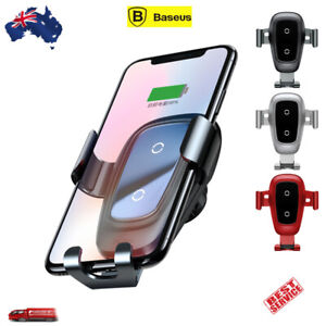 Baseus Wireless Charger Gravity Car Air Vent Mount For iPhone Samsung Qi Phone