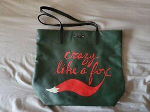 EUC Kate Spade New York Crazy Like A Fox Bon Tote Bag, Dark Green