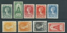 1923TG Nederland Koningin Wilhelmina NR.121-129 postfris, mooie zegels.