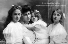Photo. 1910. Sweden. Princess Ingeborg with Princesses Margaret, Martha & Astrid