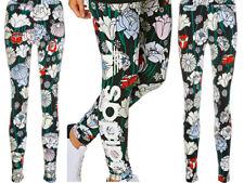 adidas Originals Womens Linear Stretch Floral Flower Print Leggings New Sealed.