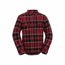 2017 NWT BOYS VOLCOM BISON INSULATED FLANNEL $90 M blood red black plaid jacket