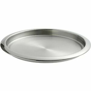 New Stainless Steel Round Serving Tray Thali Platter ¦ Dish Food Plate, 28X2.5CM