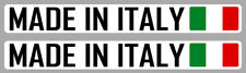 2 X MADE IN ITALY ITALIE FIAT VESPA 15cmX2cm AUTOCOLLANT STICKER AUTO MA208.