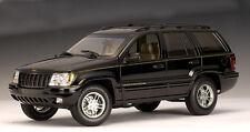 1:18 AUTOart 1999 Jeep Grand Cherokee BLACK diecast truck car model NEW