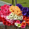 FT- Artificial Silk Gerbera Daisy Flowers Leaf Home Wedding Garden Bouquet Decor