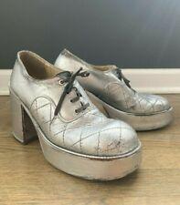 Vintage 1970'S Authentic Wild Pair Disco Electric Platform Shoes Size 10 L@K