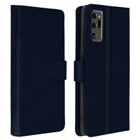 Etui Galaxy Note 20 Ultra- Cover Etui Kartenhalter Funktion Halterung Blau Nacht