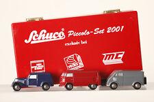 Schuco Piccolo 3er-set 2001 Vw-Bus Ro DKW Tr. Gr Mercedes V170 Bl (65052)