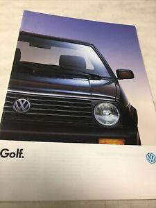 Volkswagen VW gamme Golf 1991 catalogue prospectus brochure dépliant vintage