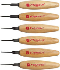Flexcut Mixed Profile Micro Tool Set Knife MT910 Includes six 1.5mm Profiles: Ch