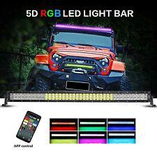 "Auxbeam V-Series LED Light Bar 52"" 300W Combo Straight RGB Strobe Controlled 5D"