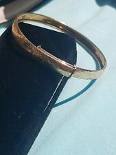 Bnib 9ct Gold Adjustable Bangle very sparkly with swirly engraved pattern