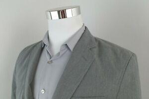 Banana Republic Non Iron Tailored Fit Gray Mini Check Sport Coat Blazer Mens 40S