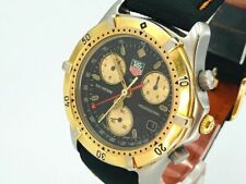 TAG HEUER Watch 2000 CE1120   Quartz 18K Gold Plated Chronograph Men's  T1400