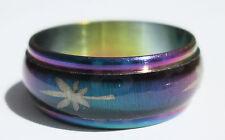Kameleon Pot Leaf Stainless Steel Ring - Size 8  (18.1mm)