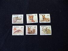 Zimbabwe Endangered Animal Postage Stamps