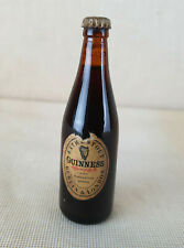 Beer Bottle. Dad Gift. Miniature Vintage Guiness Extra Stout Bottle Crown Cap