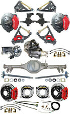 """NEW 2"""" DROP SUSPENSION & WILWOOD BRAKE SET,CURRIE REAR END,ARMS,POSI GEAR,596424"""