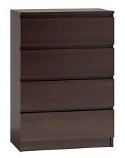 Large Modern Walnut Chest of 4 Drawers Bedroom Storage  M4