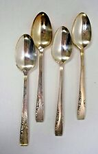 Oneida Proposal Teaspoons 4 Silverplate Rogers 1881 Flatware