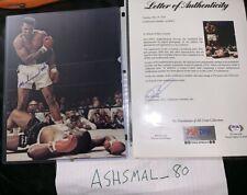 Muhammad Ali Signed 8x10 Photo Against Sonny Liston Autographed AUTO PSA/DNA LOA