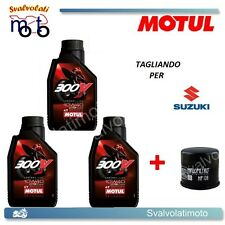 TAGLIANDO FILTRO OLIO + 3LT MOTUL 300V 10W40 SUZUKI SFV GLADIUS 650 2010