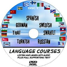 Listen and Learn 7 Easy Language courses Spanish German Swedish Etc NEW PC DVD 1