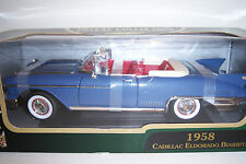 1958 Cadillac Eldorado Biarritz. blue. Die Cast Car. 1:18 scale. Road Signature
