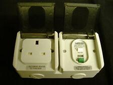 Loblite Aquatec  54 Weatherproof RCD Protected 13A Single Socket. IP54.  5403.00