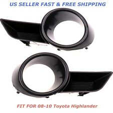 A Pair Front Bumper Fog Light Grille Cover Trim For 08 09 10 Toyota Highlander