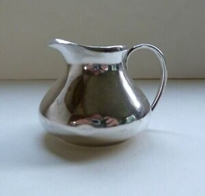 Antique Sterling Silver Milk Cream Jug, London 1915, by Charles Edwards