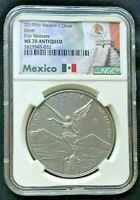 2019Mo Mexico 1oz Onza Silver Libertad    NGC MS70 ANTIQUED   First Releases
