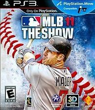 MLB 11 The SHOW Sony PlayStation3 PS3 Console BASEBALL Sport VIDEO GAME Complete