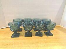Vintage Blue Colony set of 8 Sherbet / Champagne glasses