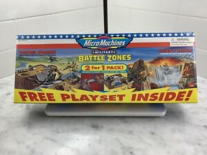 micro machines military playset 2 for 1 nos mint thunder crossing/raven's cayon