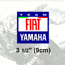 "1 x FIAT YAMAHA Vinyl Sticker Decal 3.5"" 9cm Rossi"