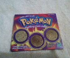 Pokemon Battling Coin Game Hasbro #30 Nidorina,#39Jigglypuff,#12Electabuzz 1999