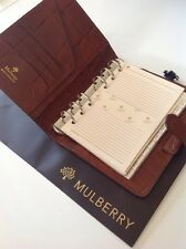 Mulberry Agenda Organiser In Brown Congo Leather Brand New Old Stock