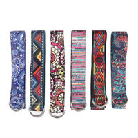 1PC Yoga Strap Fitness Rope Colored Printed Adjustable Yoga Belt Washable St uW