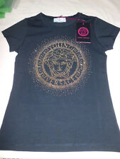 Versace Young  T- Shirt Black  Medusa Metal  size S