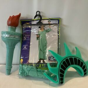 Statue of Liberty Costume with Crown & Torch Size XL Halloween USA Patriotic 4th