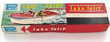 """RARE Vintage Tokyo plamo """"LAGO Fata"""" motorizzata Velocità Barca SANWA Japan anni 1960"""